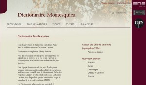 Dictionnaire Montesquieu